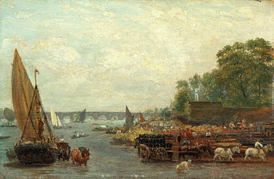 Technical Painting - Westminster Bridge, London Frederick Nash by Litz Collection
