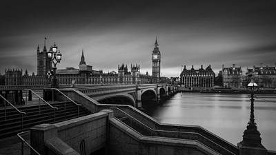 Big Ben Wall Art - Photograph - Westminster Bridge by Oscar Lopez