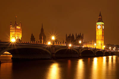 London Skyline Royalty-Free and Rights-Managed Images - Westminster gold by Izzy Standbridge