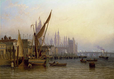 Victorian Era Painting - Westminster by John Wilson Carmichael