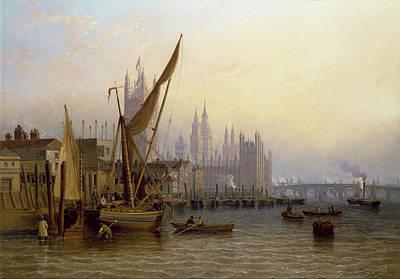 British Era Painting - Westminster by John Wilson Carmichael