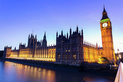 Westminster Palace Art Print by  Ultraforma