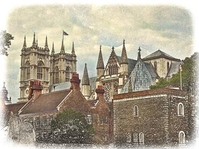Westminster Abbey Digital Art - Westminster Skyline by Rick Lloyd