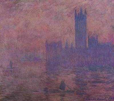 Mist Painting - Westminster Tower by Claude Monet