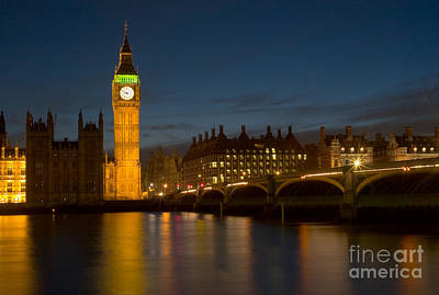 Photograph - Westminster Twilight I by Clarence Holmes