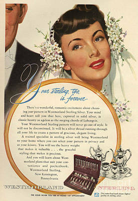 50s Drawing - Westmoreland Sterling 1950 1950s Usa by The Advertising Archives