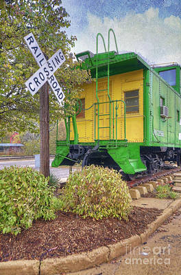 Photograph - Weston Railroad Crossing by Liane Wright
