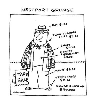 Westport Grunge Art Print by Charles Barsotti