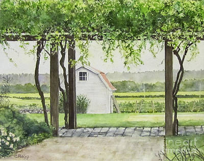 Painting - Westport Rivers Winery by Carol Flagg