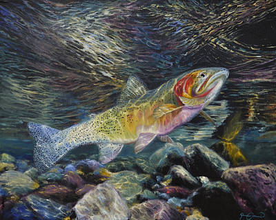 Corwin Painting - Westslope Cutthroat Trout by James Corwin