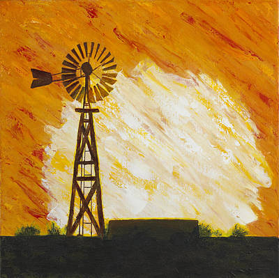 Painting - Westward Sun by Garry McMichael