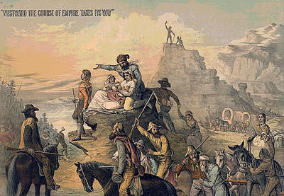 Wagon Train Digital Art - Westward The Course Of Empire Takes It Way by Unknown