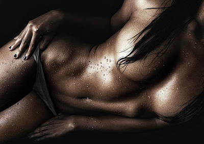 Bodyscape Art Photograph - Wet by Abdy Photoworks