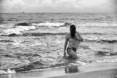 Kiss Breast Nipple Photograph - Wet Again by James Pennie