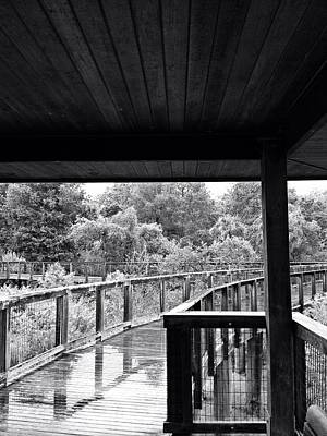 Boardwalk In Black And White 4 Art Print