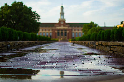 Photograph - Wet Bricks To The Library by Nathan Hillis