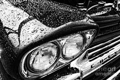 Rain Droplet Photograph - Wet Chevy by Olivier Le Queinec