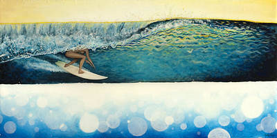 Female Surfer Painting - Wet Dream by Kelly Meagher
