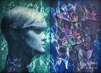 Wet Fantasies Art Print by Rosa Cobos