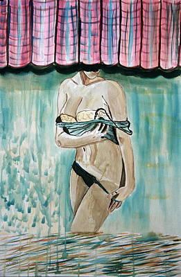 Painting - Wet Lady. by Shlomo Zangilevitch
