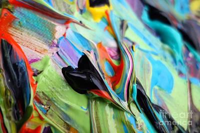 Blue Hues - Wet Paint 46 by Jacqueline Athmann