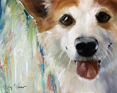 Dog Close-up Painting - Wet Paint by Mary Sparrow