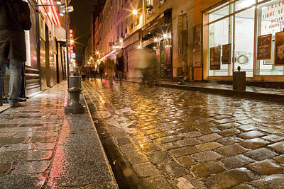 Wet Paris Street Art Print by Matthew Bamberg