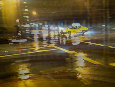 Art Print featuring the photograph Wet Pavement by Alex Lapidus