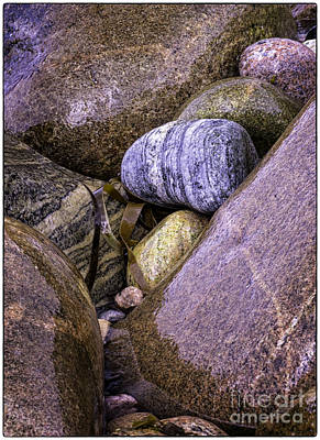 Wet Pebbles Art Print by George Hodlin
