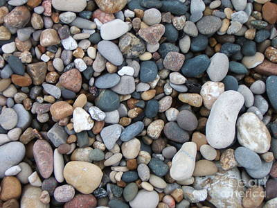 Wet Pebbles Art Print by Margaret McDermott