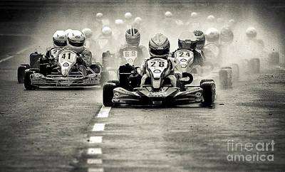 Go Kart Wall Art - Photograph - Wet Race by Alan Oliver