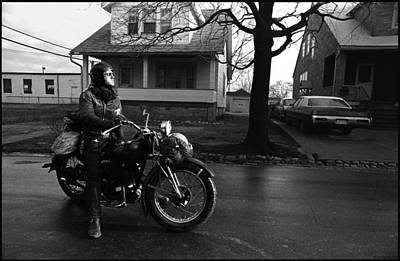 Outlaw Photograph - Wet Ride by Doug Barber