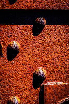 Worn Photograph - Wet Rivets  by Bob Orsillo