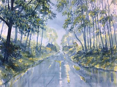 Wet Road In Woldgate Art Print