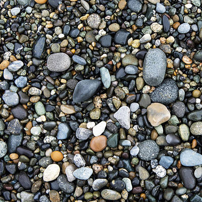 Wet Rocks On The Beach Oak Harbor Art Print