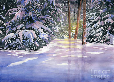 Snow Drops Painting - New Snow by Melly Terpening