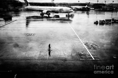Wet Tarmac Print by Dean Harte