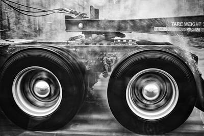 Wet Wheels Art Print by Robert  FERD Frank