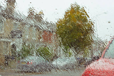 Wet Windscreen Print by Tom Gowanlock