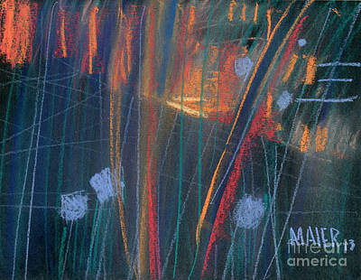 Wet Windshield Original by Donald Maier