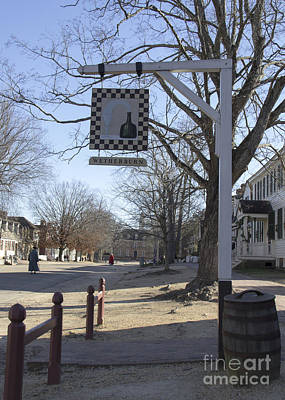 Colonial Actors Photograph - Wetherburn Tavern Sign Williamsburg Virginia by Teresa Mucha