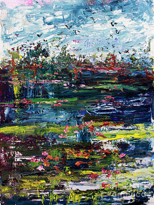Wetland Impressions Oil Painting Art Print