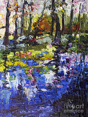 Painting - Wetland Reflections Modern Impressionism by Ginette Callaway