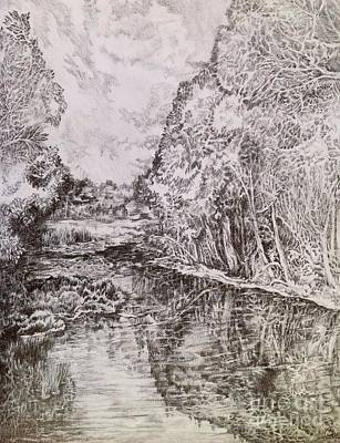 Drawing - Wetlands by Iya Carson