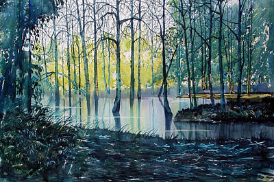 Painting - Wetlands On Skipwith Common by Glenn Marshall