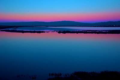 Alviso Photograph - Wetlands Sunset by Bob Wall