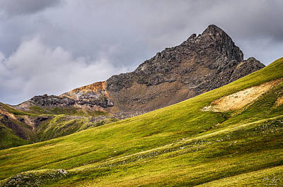 Green Photograph - Wetterhorn Peak by Aaron Spong