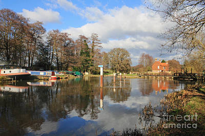 Wey Canal Surrey England Uk Art Print