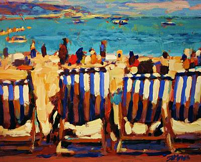 Canadian Sports Artist Painting - Weymouth Beach by Brian Simons