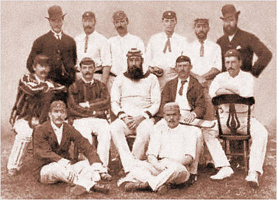 1886 Mixed Media - Wg Grace - England 1886 by Charlie Ross